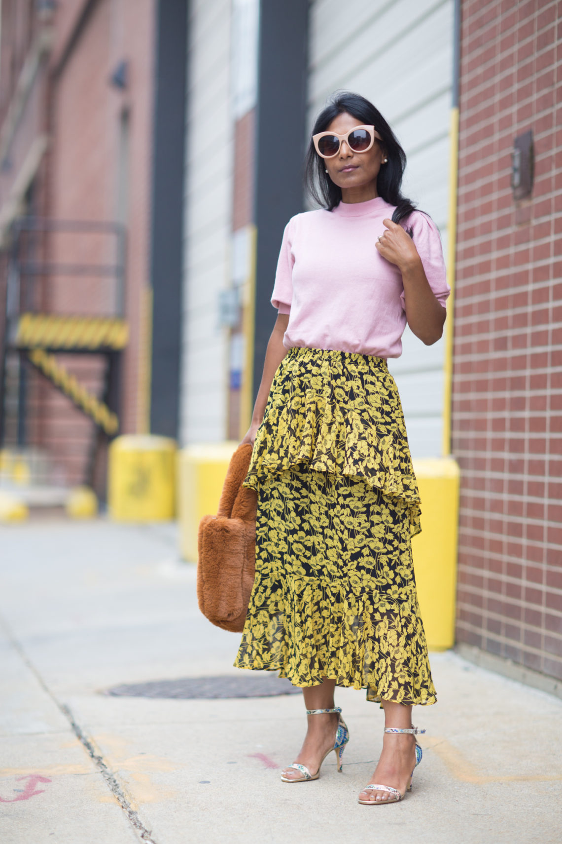 floral print, fall skirt, fall fashion, who what wear, target style, whowhatwear, petite fashion